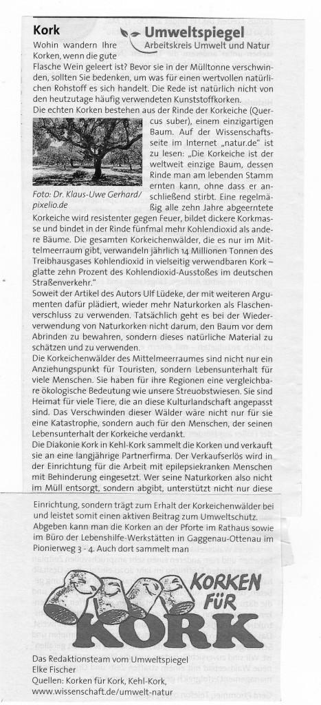 Umweltspiegel Kork GaWo